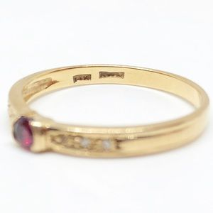Vintage Jewelry - ❌SOLD❌ 14k Yellow Gold Genuine Ruby & Diamond Ring